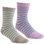 ACORN Toasty Treads 2 Pack Socks for Women – Magenta/Blue