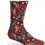 ACORN Versafit Fleece Socks – Chocolate Dots