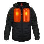 ActionHeat 5V Battery Heated Insulated Puffer Jacket W/ Hood – Men's