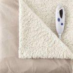 Biddeford Heated Micromink Sherpa Throw Blanket