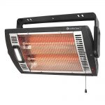 Comfort Zone CZQTV5M Quartz Electric Wall Mount Heater – Black