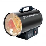 Comfort Zone CZPP100 Radiant Propane Portable Forced Air Heater – Black