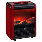 Comfort Zone CZFP1 Ceramic Electric Fireplace Stove Fan-Forced Heater – Red