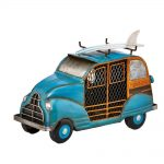 DecoBreeze Figurine Fan – Blue Woody Car