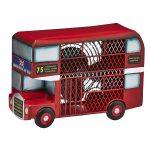 DecoBreeze Figurine Fan – Double Decker Bus