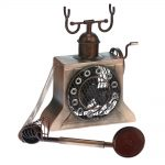 DecoBreeze Figurine Fan – Antique Copper Phone