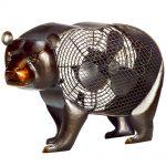 DecoBreeze Figurine Fan – Black Bear