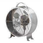 DecoBreeze Retro Metal Fan – Stainless