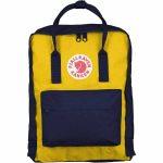 FjallRaven Kanken Backpack – Navy/Warm Yellow