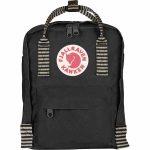 FjallRaven Kanken Mini Kids Backpack – Black/Striped