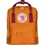 FjallRaven Kanken Mini Kids Backpack – Burnt-Orange/Deep-Red