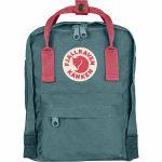 FjallRaven Kanken Mini Kids Backpack – Frost Green/Peach Pink