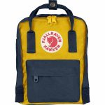 FjallRaven Kanken Mini Kids Backpack – Navy/Warm-Yellow