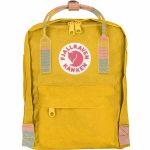 FjallRaven Kanken Mini Kids Backpack – Warm-Yellow/Random-Blocked