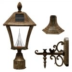 Gama Sonic Baytown Solar Lamp – Weathered Bronze