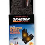 Grabber Sweater Fleece Heated Gloves w/ Free Warmers
