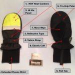 HXT Microwavable Heated Mittens – Hi Viz Yellow