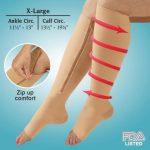 Jobar Zipper Compression Socks
