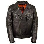 Milwaukee Leather Men's Side Set Belt Utility Pocket Motorcycle Jacket