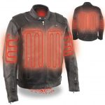 Milwaukee Leather Men's Vented Scooter Jacket with Heated Technology – 12V Motorcycle