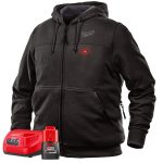 Milwaukee M12 Cordess Heated Hoodie Kit – Black