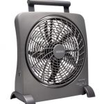 O2 Cool 10″ SmartPower Fan with USB Power Port & AC Adapter