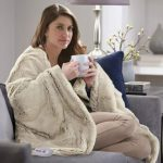 Serta Faux Fur Reversible Electric Heated Throw