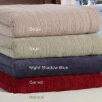 Soft Heat Triple-Rib Heated Blanket – Throw