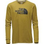 The North Face Men's Long-Sleeve Half Dome Tee – Arrowwood Yellow Heather/Asphalt Grey