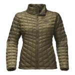 The North Face Women's Thermoball Full Zip – Burnt Olive Green