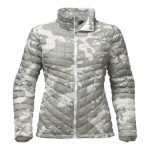 The North Face Women's Thermoball Full Zip – White Woodchhip Print