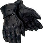 Tourmaster Deerskin Motorcycle Gloves – Black