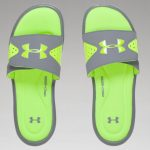 Under Armour Men's UA Ignite Slides – Steel/High/Vis Yellow