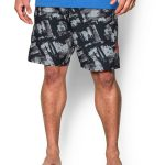 Under Armour Men's UA Bergwind Board Short – Amalgam Gray/Black/Rocket Red